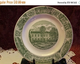 Fall CLEARANCE Sale Coshocton, Ohio Commemorative Dinner Plate - John-Humrick House Museum