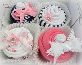 New Baby Gift, Onesie Cupcakes, Baby Cupcakes, Baby Shower Gift Set, Baby