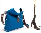 Felt Handbag with fold over top, Felt Bag, Womans Purse, Felt Clutch bag, Womans Handbag, Gift for her.