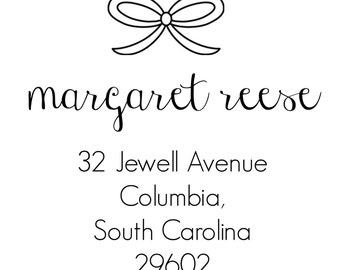 Bow Address Stamp