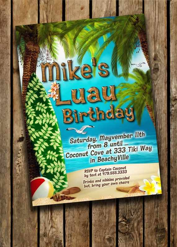 Luau Party Invitations Hawaiian Theme Party Luau Party – Hawaiian Theme Party Invitations