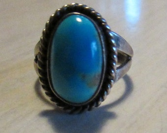 Sterling Silver and Turquoise Ring  Size 5