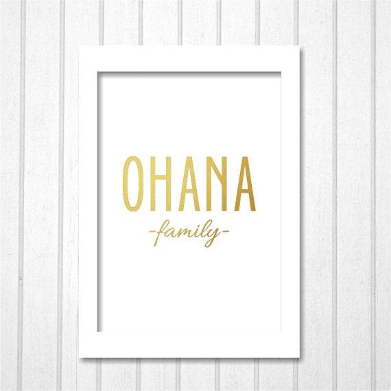 Ohana significa familia imprimible Disney Lilo & Stitch