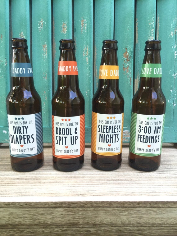 First time dad beer bottle labels gift for daddy by for Father s day gifts for first time dads