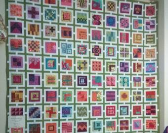 Tula Pink's City Sampler in Tula Pink and Kaffe Fassett fabrics