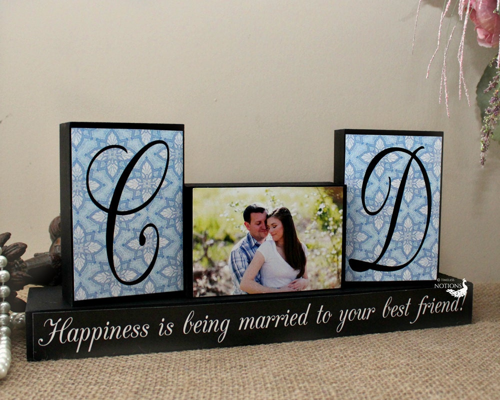 Monogram Wedding Gift Ideas: Personalized Unique Wedding Gift For Couples By TimelessNotion