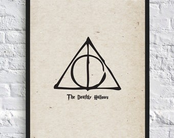 Harry Potter Inspired Poster - The Deathly Hallows - A4 - Movie Poster