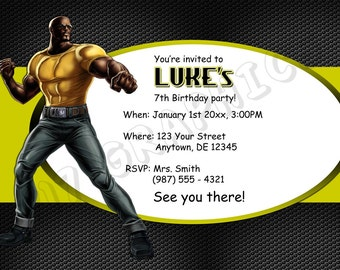Luke Cage Birthday Invitation - Printable