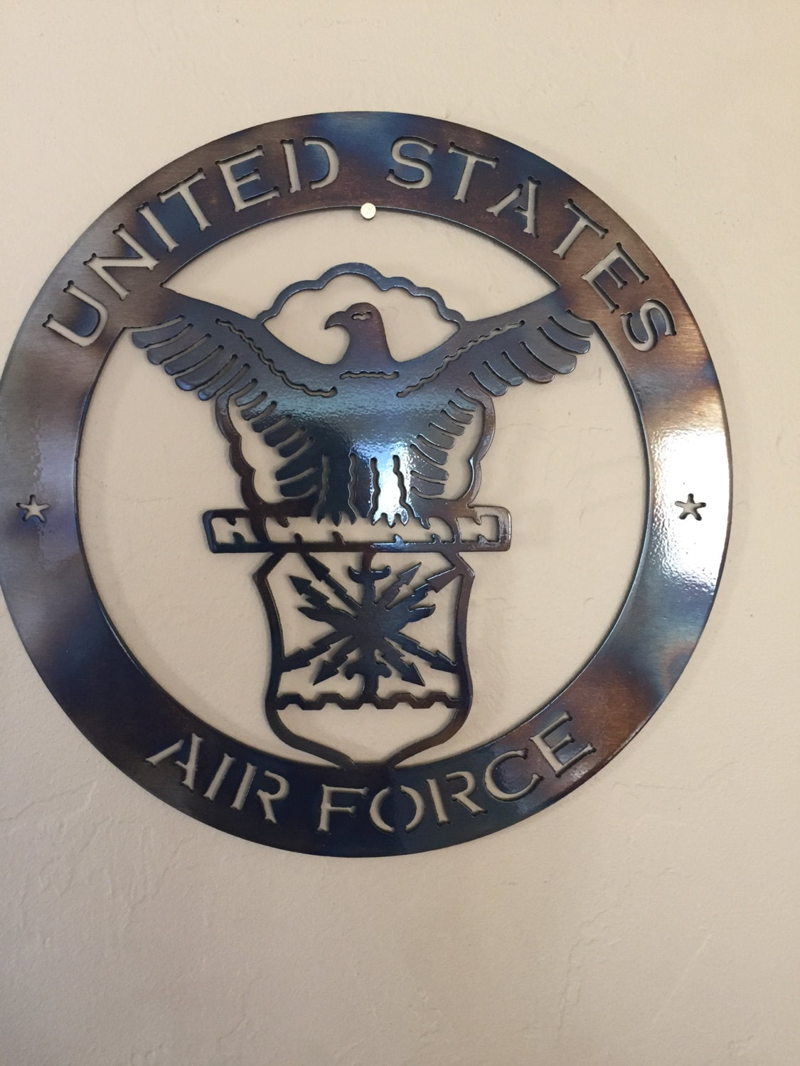 Usaf Wall Decor : Us air force logo metal wall art decor