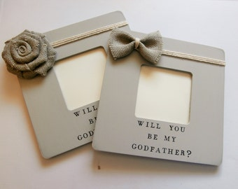 Will you be my Godparents picture frame