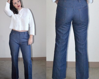 Vintage High-Waisted Flare Jeans (Size 32)
