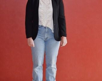 Vintage Christian Dior Black Blazer (Size 8)