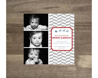 Anderson Christmas card, photo Christmas holiday card, custom modern Christmas photo card, printable card, digital card