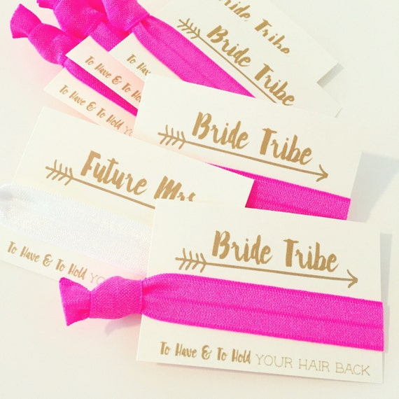 Bachelorette Hair Tie Favor | To Have and To Hold Your Hair Back | Hot Pink Bachelorette Party Hair Tie Favors, Neon Pink Hair Tie Favors