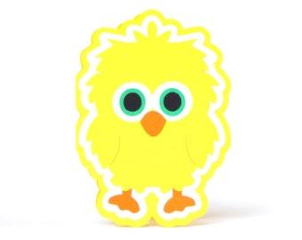 Sweet Yellow Birdie Card, Greeting Card, Blank Card, Handmade Card, Cute Card, Birthday Card, Baby Card, Animal Card,Get Well Card, So Cute!