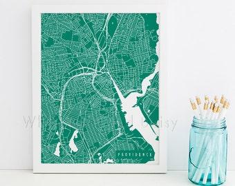 Providence Map Art Providence Print Providence Art Print Providence Poster Providence Printable Providence City Providence Rhode Island Art