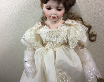 18 inch Doll in white wedding dress