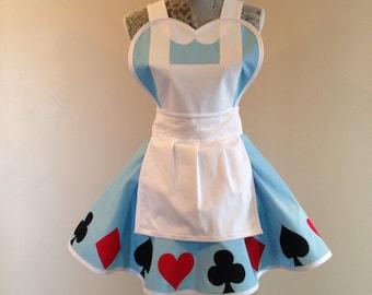 Alice -  womens apron - costume apron - cosplay costume - retro apron