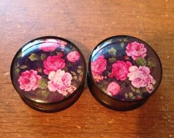 Floral Plugs (Buy 2 Pairs Get 1 Free!)