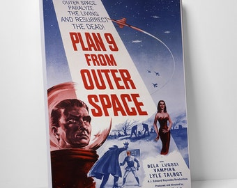 Plan 9 From Outer Space Gallery Wrapped Canvas Print