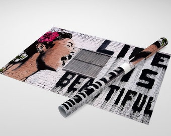Banksy Life is Beautiful Archival Canvas Print