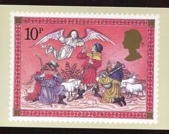The Shepherds Christmas PHQ Stamp Series Postcard C218