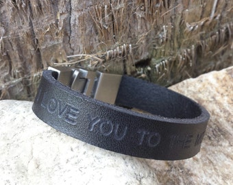 Free Shipping-Men Bracelet,Men Leather Bracelet,Men Personalized Bracelet,Custom Leather Bracelet,,Bracelets For Men, Stainless Steel clasp