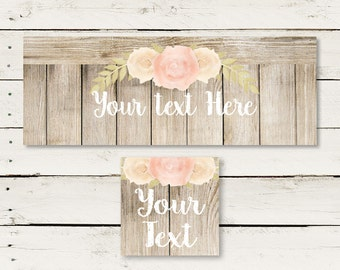 Country chic, Facebook timeline cover, Facebook banner, custom banner, floral, pink, rustic