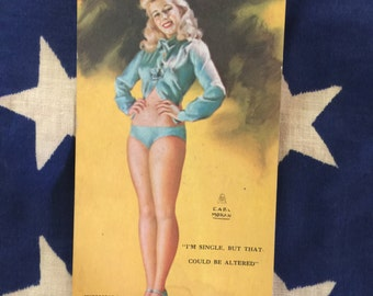 Pinup Girl Mutoscope Card