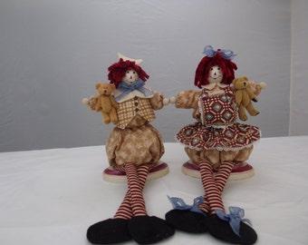 Americana raggedy dolls