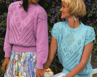 Women s Cardigan Knitting Pattern : womens cardigan knitting pattern lacy cardigan short by Hobohooks