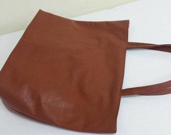 Ankara/vegan leather tote bag