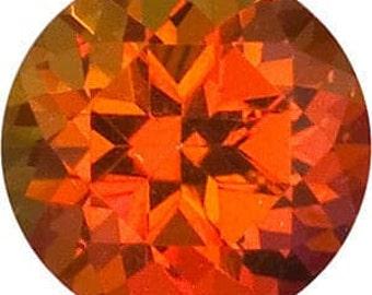 Swarovski Gemstones Loose Poppy Pasion Natural Topaz Gemstone Round Brilliant Shape, AAA Flawless, Jewelry Making