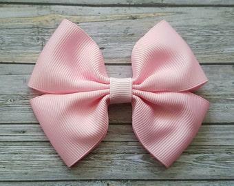 Light Pink Hair Bow Clip