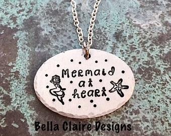 Mermaid at heart Necklace, Mermaid Necklace, Soul of a Mermaid necklace, Mermaid Jewelry, Mermaid Girl necklace, siren of the Seas Necklace