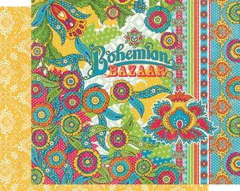 CLEARANCE SALE!  Graphic 45 Bohemian Bazaar 12x12 Paper Kit