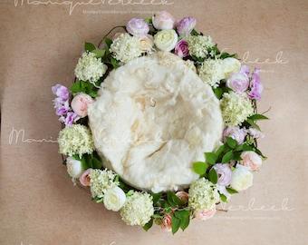 Digital prop floral wreath