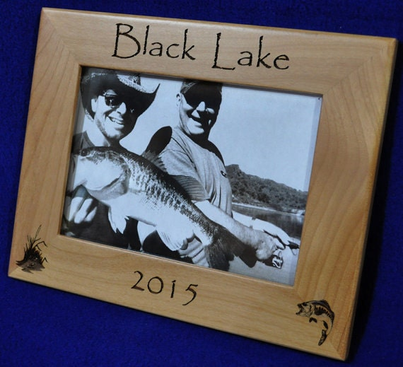 Fishing gift fisherman gift engraved fishing frame for Fishing gifts for dad
