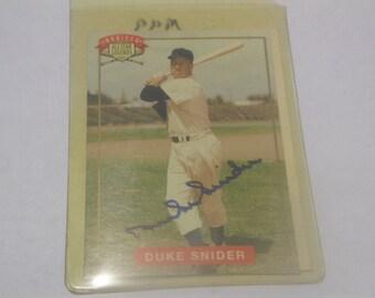 1994 Nabisco all star legends Duke Snider autographed card/COA