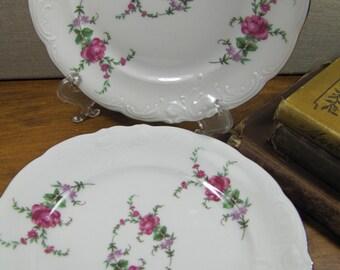 Wawel - Rose Garden - Dessert Plates - Set of Two (2) - Made in Poland