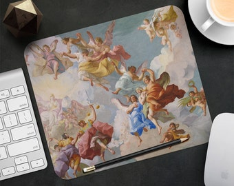 Mouse Pad Angels Mouse Mat Stift Melk Austria MousePad Art Desk Accessories MousePad Round Mouse Mat Mouse Pad Mom Gift Girl Office Supplies
