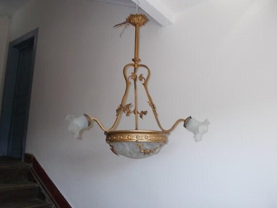 Favoloso 1900s Impero francese stile lampadario origi -> Lampadario Antico Stile Impero