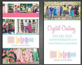 LuLaRoe Business card - Full Color professionally Printed cards or digital file option - Double Sided - Free ups ground shipping