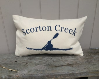 Customized  Kayak Pillow 12x18 with INSERT