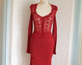 Vintage Red Dress By Betsey Johnson