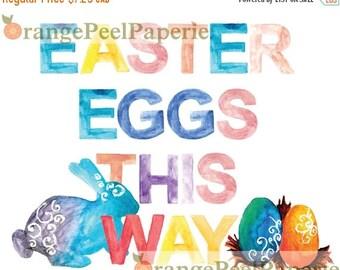 Hot Summer Sale Easter Egg Hunt, Easter Printable, Easter Party, Easter Decor, Easter Party Decor, Watercolor Easter Print, Easter Instant D