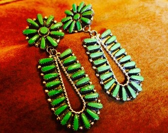 Green Turquoise Sterling Silver Genuine Handcrafted