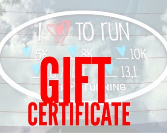 Gift Certificate for Custom Decal