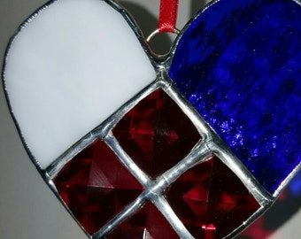 Heart Shaped Suncatcher, Beautiful Handmade Stained Glass GiftThat Lasts Forever!