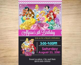 Palace Pets Birthday Invitation - Palace Pets Invitation - Printable Palace Pets Invitation - Palace Pets Invite